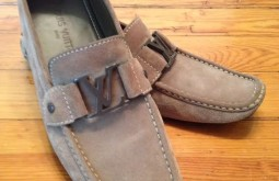 Louis Vuitton Suede Loafers