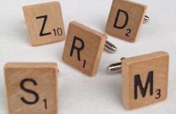 Vintage Scrabble Tile Cufflinks